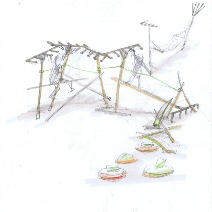 Grabeland Berlin Neukölln, Entwurf Tilman Stachat, Harkenspiel
