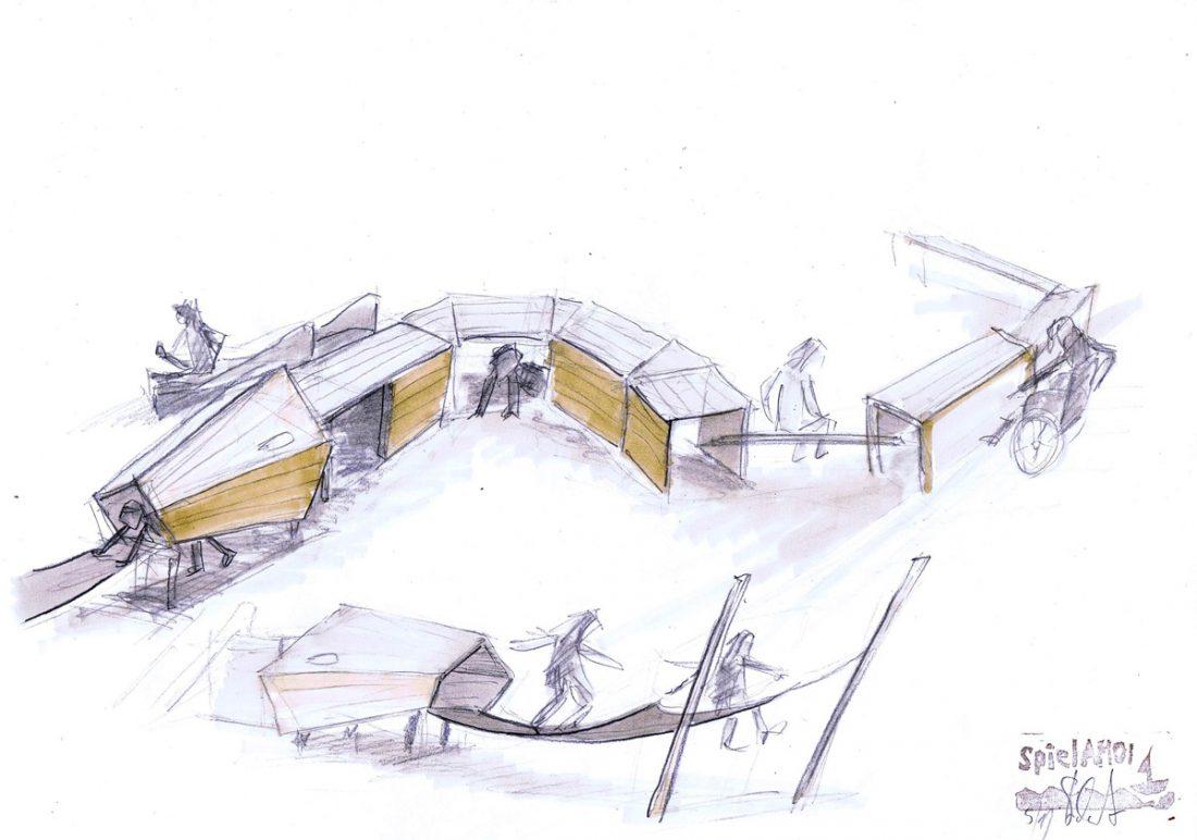 Großstadtdschungel Entwurfszeichnung Tilman Stachat