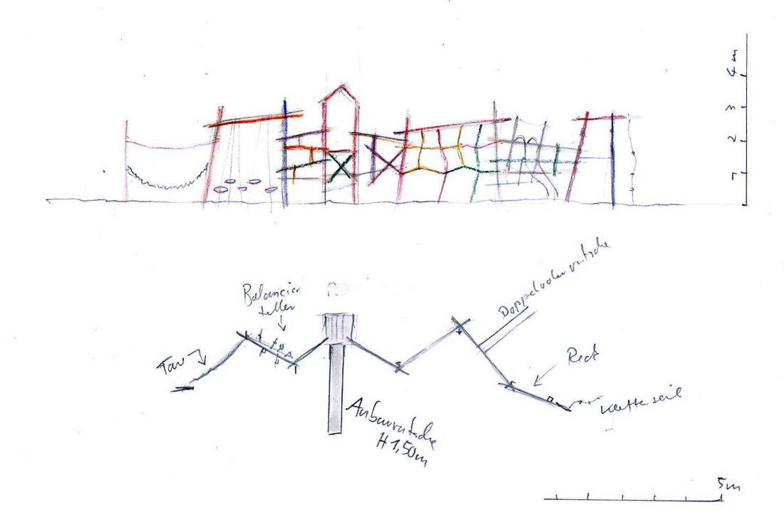 Paul Klee Alchariplatz Entwurfszeichnung Tilman Stachat