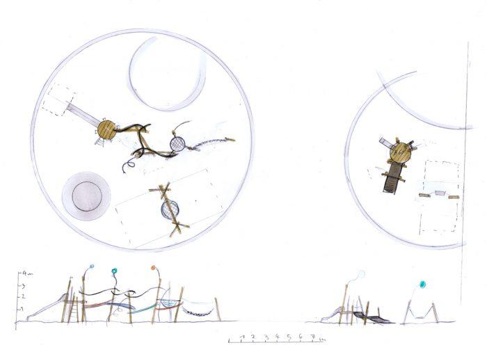 Seifenblasen Entwurfszeichnung Tilman Stachat