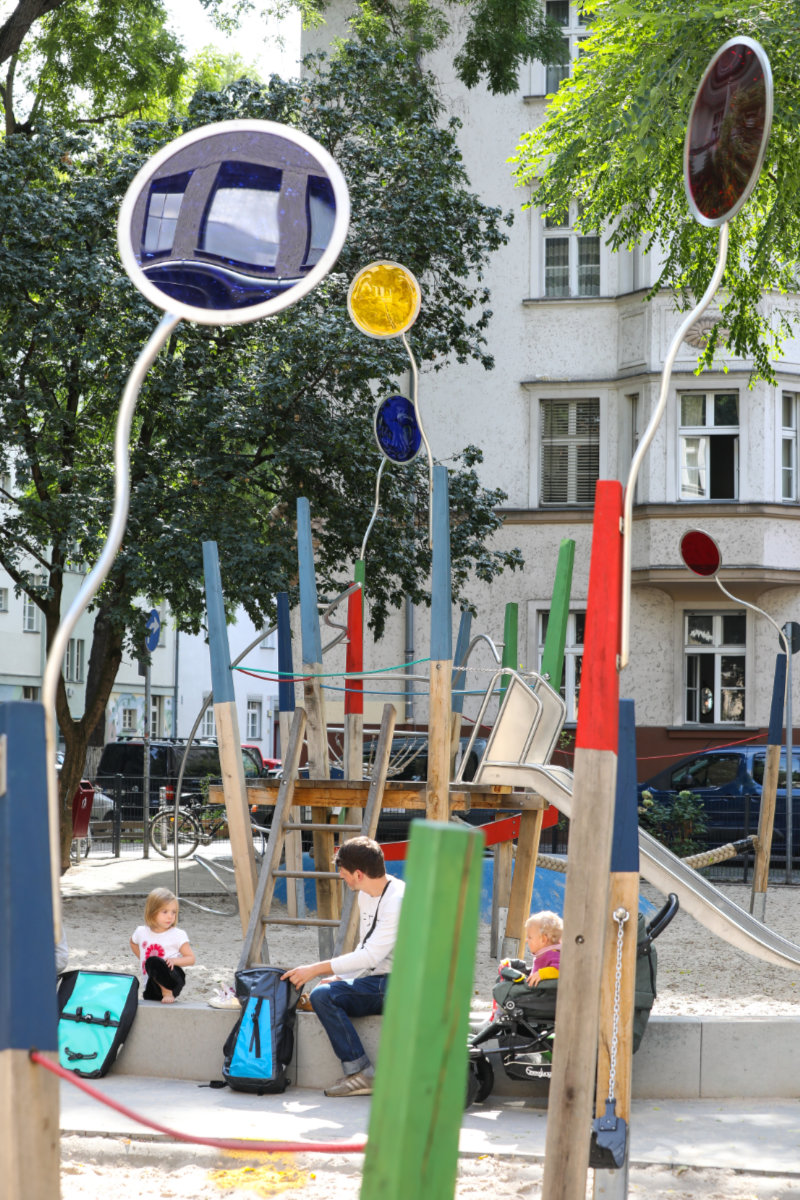 Seifenblasen, Spielplatz Berlin Neukölln