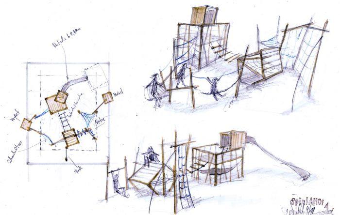 Würfelspiel Entwurfszeichnung Tilman Stachat