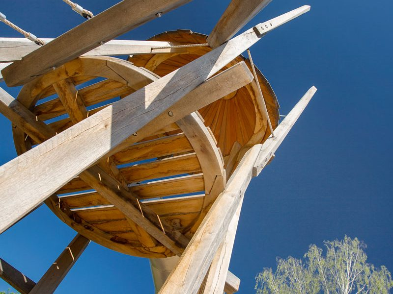 Baumhäuser für den Grünzug an der Krimhildstraße in Bernau