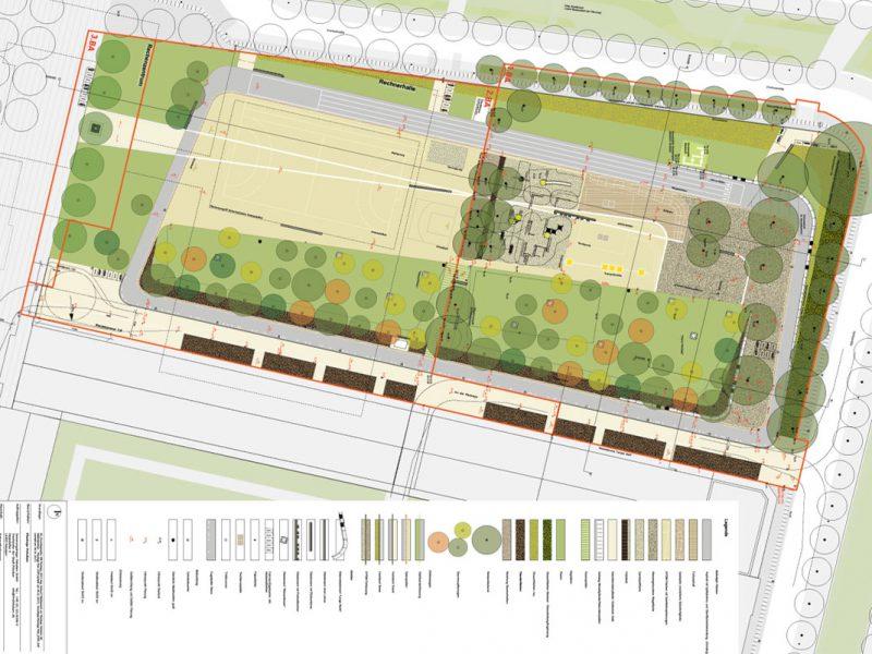 hutterreimann Landschaftsarchitektur GmbH, Gestaltungsplan Maßstab 1 : 200