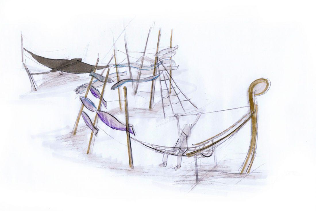 Tiefsee, Spielplatz Mahlsdorf, Entwurf